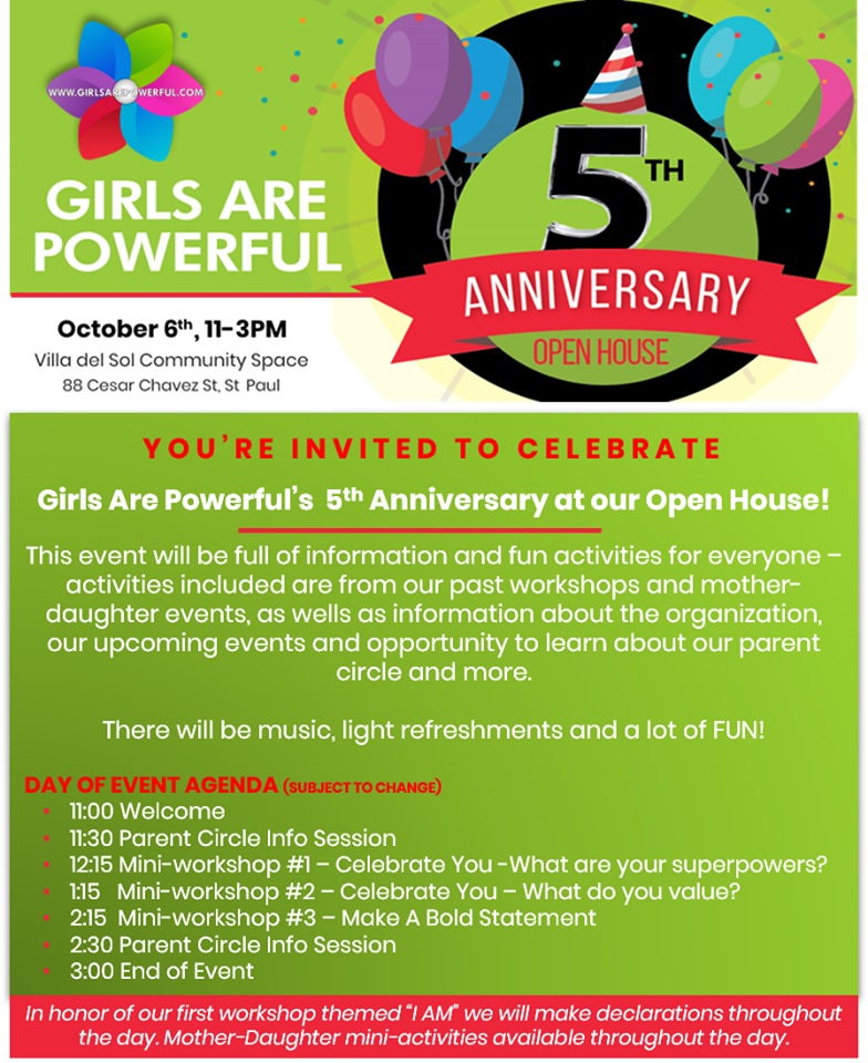 You're Invited to Celebrate the 5th Anniversary of Girls Are Powerful