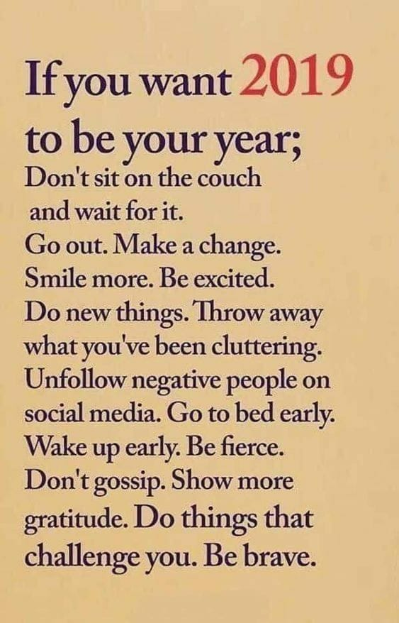 Make 2019 Your Year