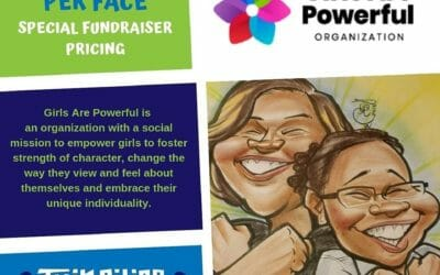Twin Cities Caricatures Supports Girls Are Powerful