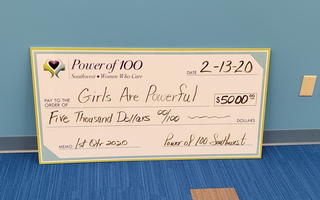 Thank you Power of 100 Southwest!
